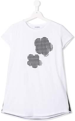 Simonetta TEEN flower embellished T-shirt