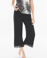 Soma Intimates Lace Wide-Leg Crop Pajama Pants Black