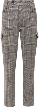 Checked Tweed Cargo Trousers