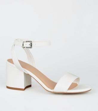 New Look Girls Faux Croc Block Heel Sandals