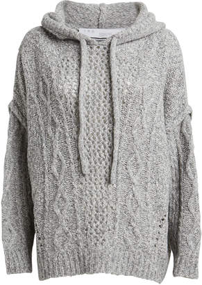 IRO Hooded Meadow Wool-Blend Sweater