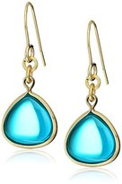 Kenneth Cole New York Gold and Teal Drop Earrings