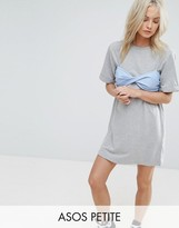 Asos T-Shirt Dress with Contrast Stripe Bra