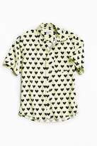 Urban Outfitters Broken Hearts Short Sleeve Button-Down Shirt