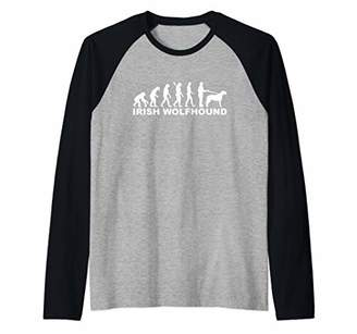 Irish Wolfhound evolution Raglan Baseball Tee