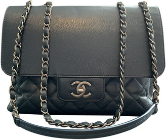 Chanel Business Affinity Navy Leather Handbags