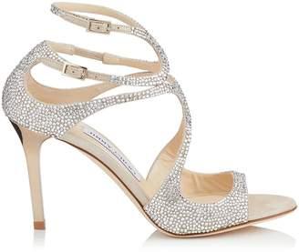 Jimmy Choo Ivette 85 Crystal Sandals
