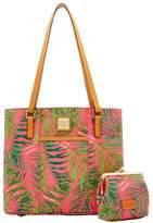 Dooney & Bourke Siesta Coated Cotton Small Lexington Large Frame Purse Bag