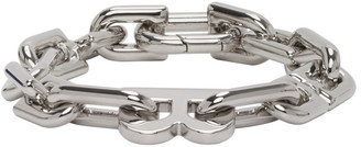 Balenciaga Silver B Chain Bracelet
