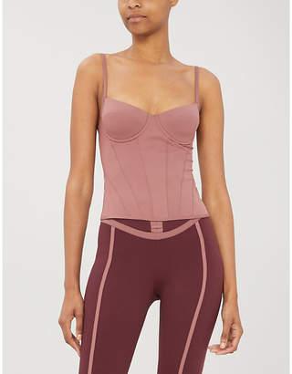 ERNEST LEOTY Romy contour-stitch stretch-jersey corset top