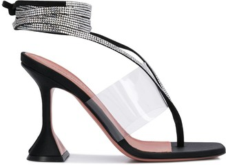Amina Muaddi Zula crystal embellished strap sandals