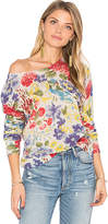 Autumn Cashmere Crop Floral Sweater in Blue. - size S (also in )