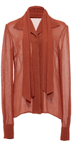 Hensely Neck Tie Blouse