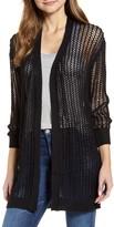 RD Style Crochet Open Front Long Cardigan