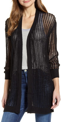 RD Style Crochet Open Front Long Cardigan