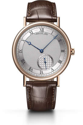Breguet 40mm Classique 18k Rose Gold Engraved Watch w/ Alligator Strap, Brown/Rose