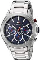 Tommy Hilfiger Men's 1791228 Hudson Analog Display Japanese Quartz Silver Watch