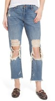 Blank NYC Women's Blanknyc Ripped Girlfriend Jeans
