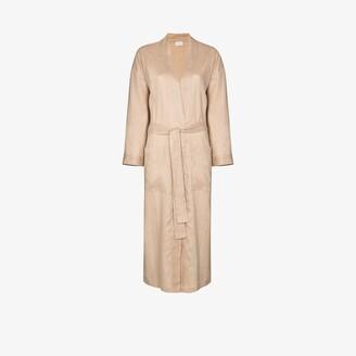 POUR LES FEMMES Long Linen Robe