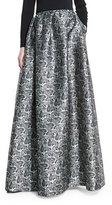 Michael Kors Printed Ball Skirt W/Pockets, Black/White