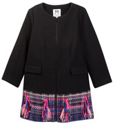 Milly Minis Combo Tweed Coat (Toddler & Little Girls)