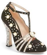 Gucci Women's Ofelia Pearly Crystal Embellished Pump