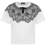 DSQUARED2 Dsquared2Girls White Top With Lace Print
