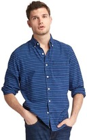 Gap Indigo stripe standard fit shirt