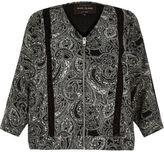 River Island Womens RI Plus black paisley soft bomber jacket