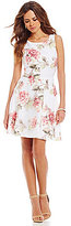 Gianni Bini Rimes Organza 3D Floral Fit-and-Flare Dress