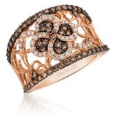 LeVian Chocolatier Vanilla and Chocolate Diamond and 14K Strawberry Gold Ring