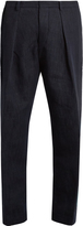 TOMORROWLAND Drawstring cotton straight-leg trousers
