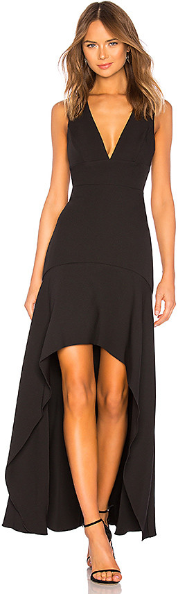 BCBGMAXAZRIA Plunging Hi Low Gown