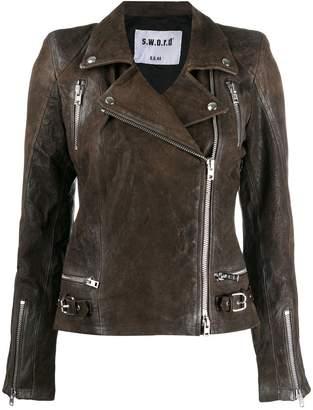 S.W.O.R.D 6.6.44 fitted biker jacket