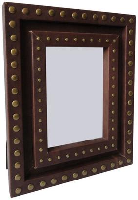 "Alta Home Studded Leather Photo Frame, 5""x7"""