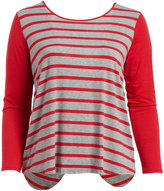 Paparazzi Red Stripe Slit-Back Tunic - Plus