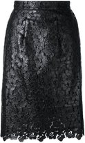 House of Holland lace overlay skirt - women - Polyester - 8