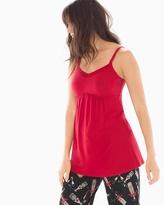 Soma Intimates Satin Trimmed Pajama Cami Ruby
