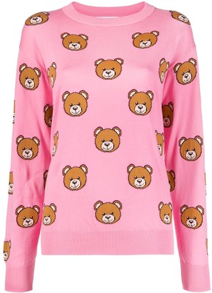Moschino Teddy-Pattern Intarsia-Knit Jumper
