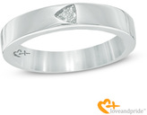Zales Love and PrideTM 1/8 CT. Trillion-Cut Diamond Solitaire Wedding Band in 14K White Gold
