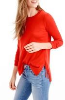 J.Crew Women's Side Slit Sweater With Ties