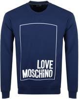 Love Moschino Box Logo Sweatshirt Blue