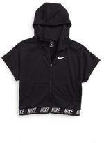 Nike Girl's Dry Core Studio Short Sleeve Hoodie