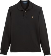 Polo Ralph Lauren Pima Cotton Polo Shirt in Slim Fit with Long Sleeves