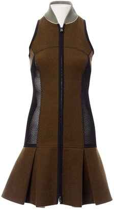 Fendi Khaki Wool Dresses
