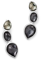 Ippolita Sterling Silver Rock Candy Three Stone Doublet Earrings in Black Tie