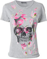 Alexander McQueen petal skull print T-shirt