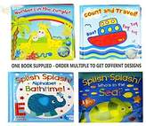 Baby Bath Books Plastic Coated Fun Educational Learning Toys for Toddlers & Kids (Count & Travel) by First Steps