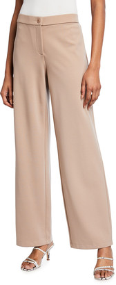 Eileen Fisher Petite Flex Ponte Zip-Front Straight-Leg Pants