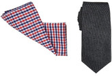 Geoffrey Beene 7cm Tie & Pocket Square Set (Plain/Check)